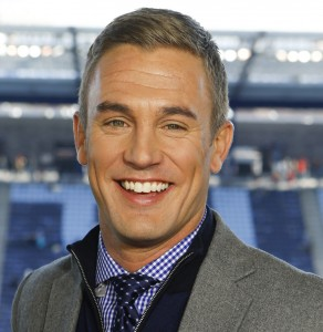 Kansas City, KS - December 7, 2013 - Sporting Park: Play-by-play analyst Taylor Twellman during the 2013 MLS Cup (Photo by Kyle Rivas / ESPN Images)